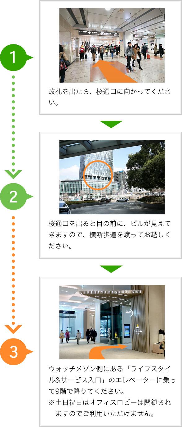 JR名古屋駅からのアクセス(徒歩3分)